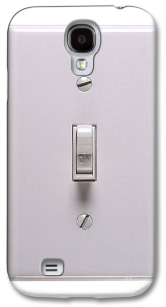 Electrical Photographs Galaxy S4 Cases - Light Switch ON Galaxy S4 Case by Olivier Le Queinec