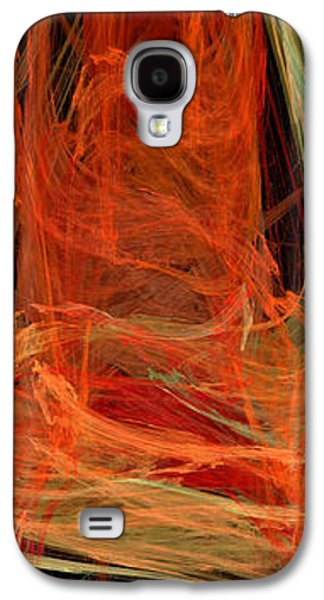 Abstract Digital Mixed Media Galaxy S4 Cases - Light The Torch A Flickering Flame - Panorama  - Abstract - Fractal Art Galaxy S4 Case by Andee Design