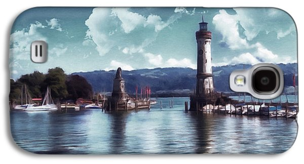 Waterscape Mixed Media Galaxy S4 Cases - Lighthouse At Lindau Galaxy S4 Case by Georgiana Romanovna