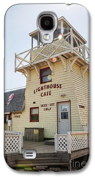 Small Towns Galaxy S4 Cases - Lighthouse cafe in North Rustico Galaxy S4 Case by Elena Elisseeva