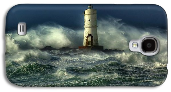 Storm Digital Art Galaxy S4 Cases - Lighthouse in the Storm Galaxy S4 Case by Gianfranco Weiss