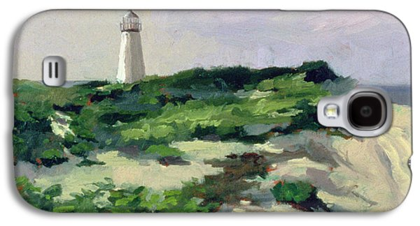 Beach Landscape Galaxy S4 Cases - Lighthouse Oil On Canvas Galaxy S4 Case by Sarah Butterfield