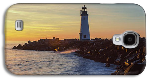 Built Structure Galaxy S4 Cases - Lighthouse On The Coast At Dusk, Walton Galaxy S4 Case by Panoramic Images