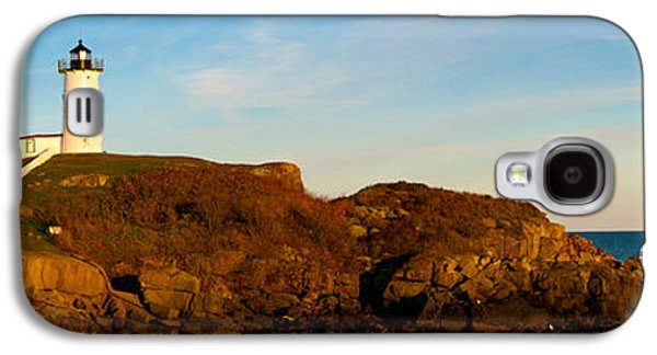 Cape Neddick Lighthouse Galaxy S4 Cases - Lighthouse On The Coast, Cape Neddick Galaxy S4 Case by Panoramic Images