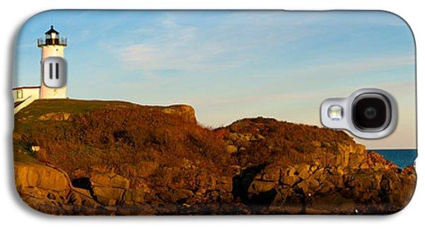Cape Neddick Galaxy S4 Cases - Lighthouse On The Coast, Cape Neddick Galaxy S4 Case by Panoramic Images