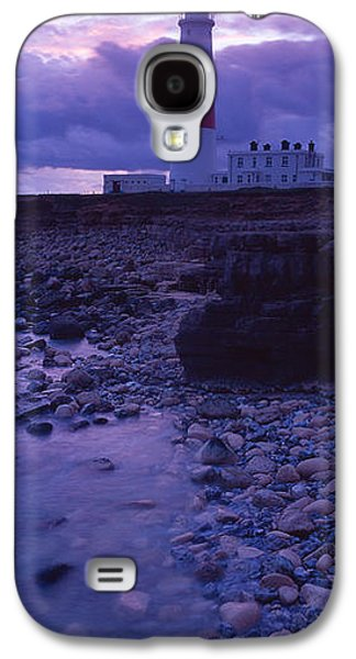 Built Structure Galaxy S4 Cases - Lighthouse On The Coast, Portland Bill Galaxy S4 Case by Panoramic Images
