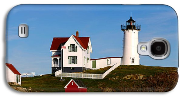 Cape Neddick Lighthouse Galaxy S4 Cases - Lighthouse On The Hill, Cape Neddick Galaxy S4 Case by Panoramic Images