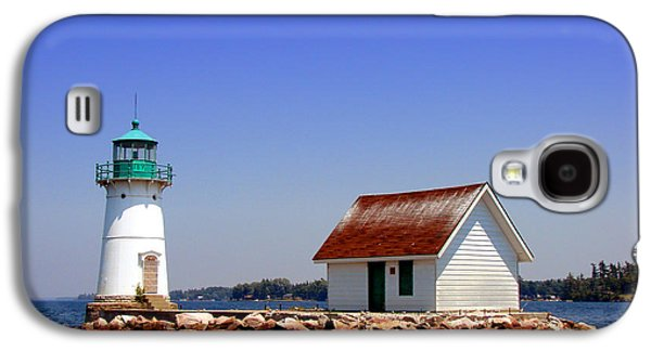 Navigation Galaxy S4 Cases - Lighthouse on the St Lawrence River Galaxy S4 Case by Olivier Le Queinec