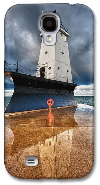 Coast Galaxy S4 Cases - Lighthouse Reflection Galaxy S4 Case by Sebastian Musial