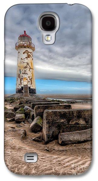 Beach Landscape Digital Art Galaxy S4 Cases - Lighthouse Steps Galaxy S4 Case by Adrian Evans
