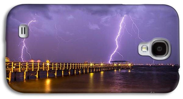 Electrical Photographs Galaxy S4 Cases - Lightning at the Pier Galaxy S4 Case by Marvin Spates