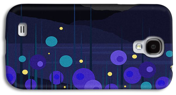 Lightning Digital Art Galaxy S4 Cases - Lightning Bugs Galaxy S4 Case by Val Arie