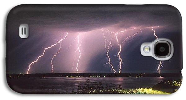 Rain Storm Galaxy S4 Cases - Lightning Galaxy S4 Case by King Wu