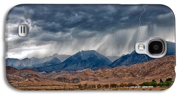 Rain Storm Galaxy S4 Cases - LIghtning Strike Galaxy S4 Case by Cat Connor