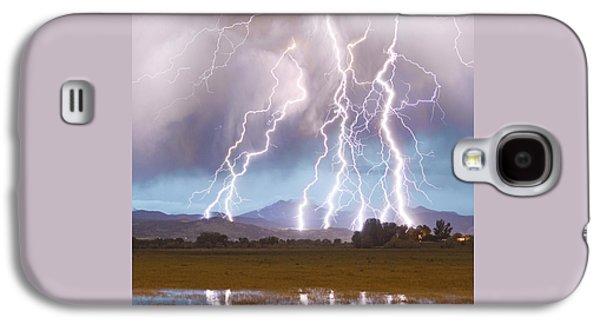 Lightning Striking Longs Peak Foothills 4c Galaxy S4 Case by James BO  Insogna