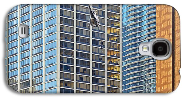 Helicopter Photographs Galaxy S4 Cases - Lights - camera - action - Movie backdrop Chicago Galaxy S4 Case by Christine Till