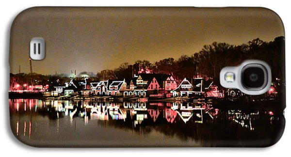 Row Boat Digital Galaxy S4 Cases - Lights on the Schuylkill River Galaxy S4 Case by Bill Cannon