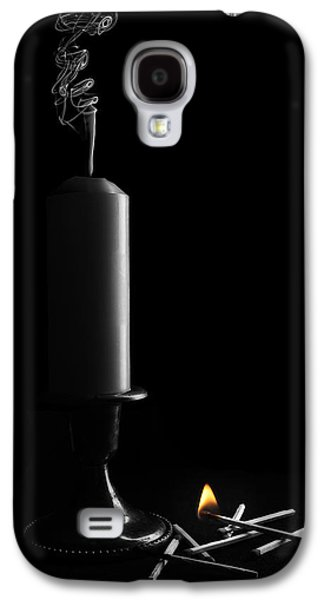 Candle Stand Galaxy S4 Cases - Lights Out Still Life Galaxy S4 Case by Tom Mc Nemar