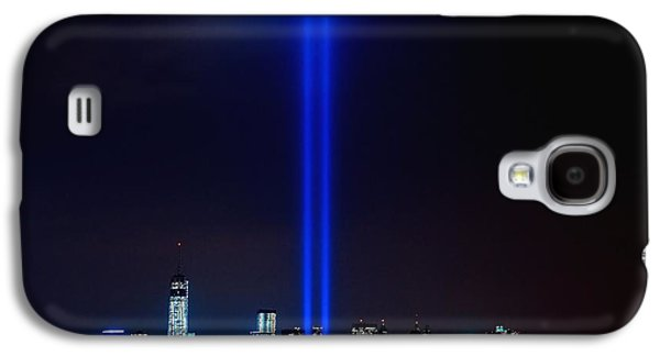 Wtc 11 Galaxy S4 Cases - Lights over NYC Galaxy S4 Case by Nick Zelinsky