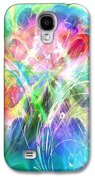 Abstract Digital Mixed Media Galaxy S4 Cases - Lightsinfonia Galaxy S4 Case by Lutz Baar