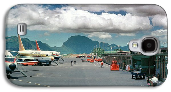 Lihue Airport With Cumulus Clouds In Kauai Hawaii  Galaxy S4 Case by Wernher Krutein