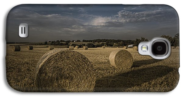 Haybale Photographs Galaxy S4 Cases - Like a moonlight shadow Galaxy S4 Case by Chris Fletcher