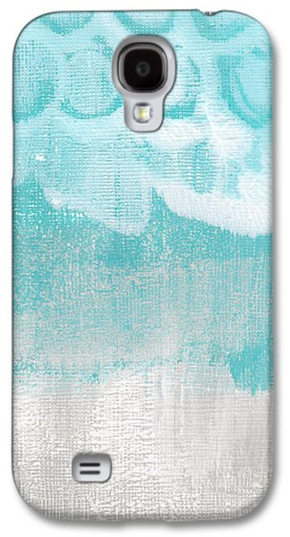Studio Mixed Media Galaxy S4 Cases - Like A Prayer- Abstract Painting Galaxy S4 Case by Linda Woods