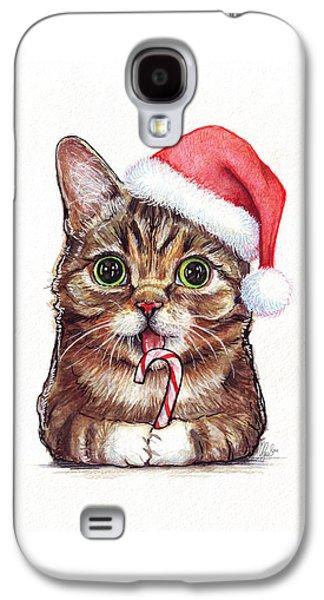 Lil Bub Cat In Santa Hat Galaxy S4 Case by Olga Shvartsur
