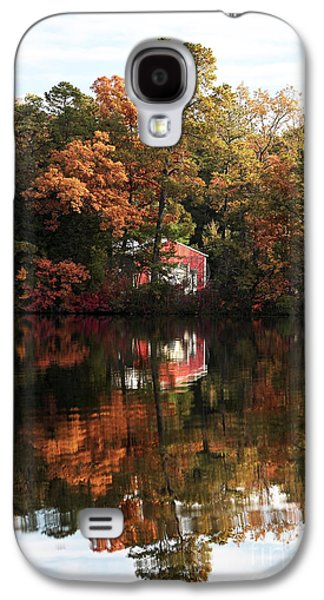 Pine Barrens Galaxy S4 Cases - Lil Red on the Lake Galaxy S4 Case by John Rizzuto