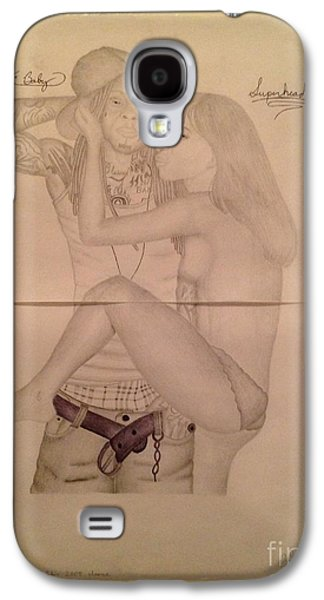 Hop Drawings Galaxy S4 Cases - Lil Wayne and Superhead in XXL Magazine Galaxy S4 Case by Young CHOICE