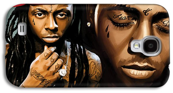 Lil Wayne Galaxy S4 Cases - Lil Wayne Artwork Galaxy S4 Case by Sheraz A