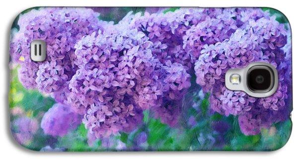 Impressionism Mixed Media Galaxy S4 Cases - Lilac Cadenza Galaxy S4 Case by Georgiana Romanovna