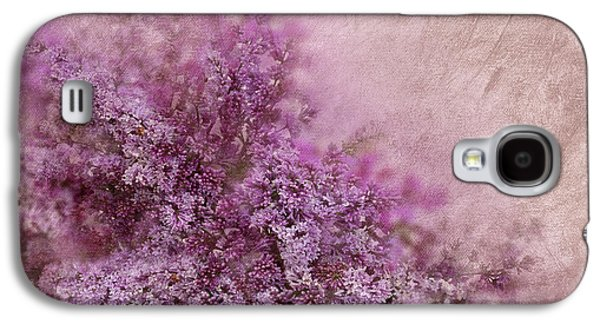 Abstract Digital Mixed Media Galaxy S4 Cases - Lilac Splash Galaxy S4 Case by Svetlana Sewell