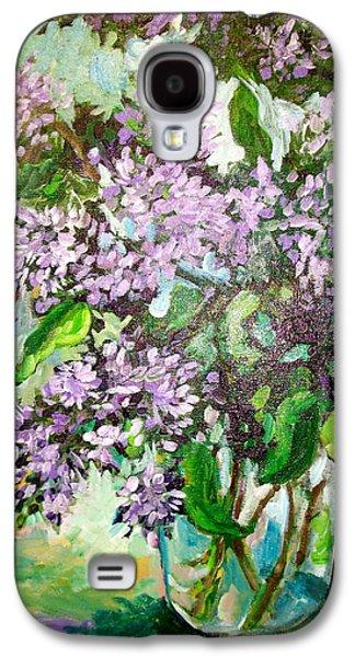 Carol Mangano Galaxy S4 Cases - Lilacs Galaxy S4 Case by Carol Mangano