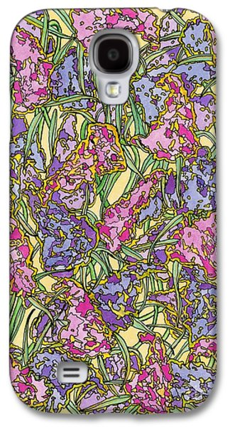 Lilacs Drawings Galaxy S4 Cases - Lilacs Electric Galaxy S4 Case by Mag Pringle Gire