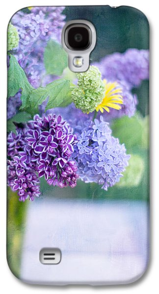 Lilacs Galaxy S4 Cases - Lilacs on the Table Galaxy S4 Case by Rebecca Cozart