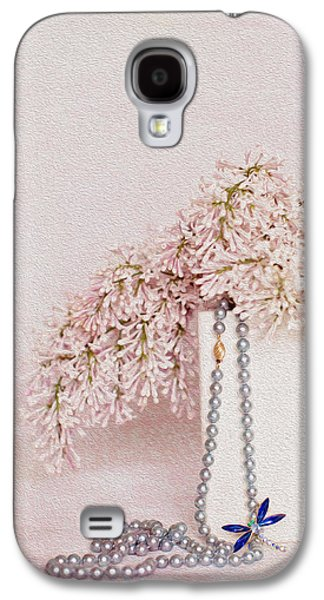 Lilacs Galaxy S4 Cases - Lilacs Pearls and a Bit of Sparkle Galaxy S4 Case by Rebecca Cozart