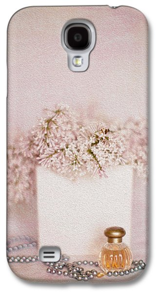 Lilacs Galaxy S4 Cases - Lilacs Pearls and Perfume Galaxy S4 Case by Rebecca Cozart