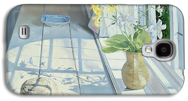 Lilies And A Straw Hat Galaxy S4 Case by Timothy Easton