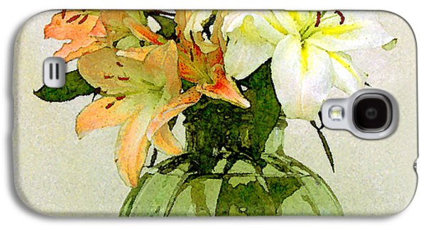 Water Vessels Galaxy S4 Cases - Lilies In Vase Galaxy S4 Case by Ben and Raisa Gertsberg