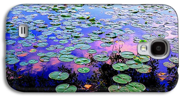 Lilly Pad Galaxy S4 Cases - Lilly Pad Sunset Galaxy S4 Case by Wendell Lowe
