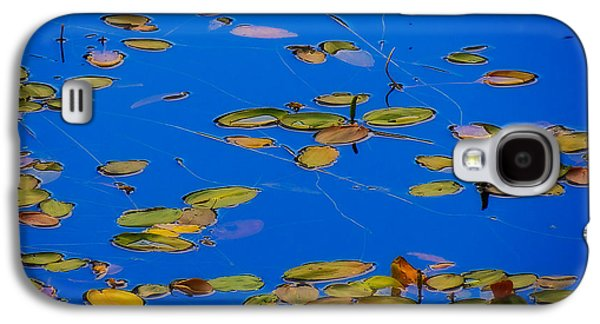 Blue Abstracts Tapestries - Textiles Galaxy S4 Cases - Lilly Pads Galaxy S4 Case by Dennis Bucklin