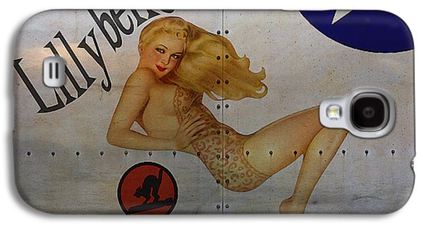 Warbird Galaxy S4 Cases - Lillybelle Nose Art Galaxy S4 Case by Cinema Photography
