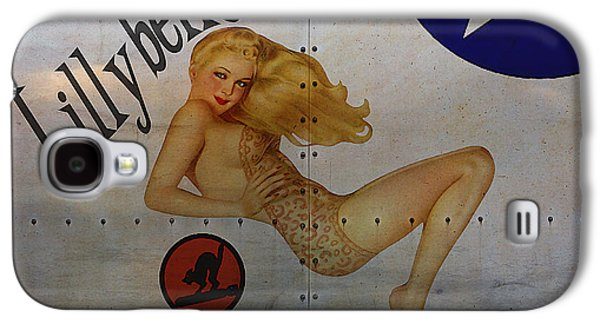 Vintage Digital Galaxy S4 Cases - Lillybelle Nose Art Galaxy S4 Case by Cinema Photography