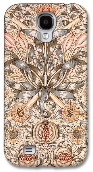 Floral Tapestries - Textiles Galaxy S4 Cases - Lily and Pomegranate wallpaper design Galaxy S4 Case by William Morris