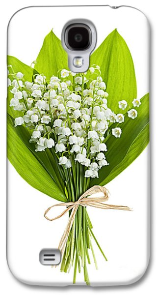 Botanical Galaxy S4 Cases - Lily-of-the-valley bouquet Galaxy S4 Case by Elena Elisseeva