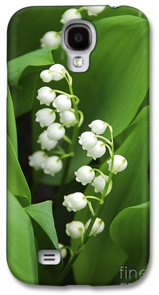 Botanical Galaxy S4 Cases - Lily-of-the-valley  Galaxy S4 Case by Elena Elisseeva