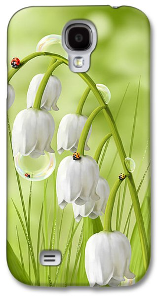 Digital Paintings Galaxy S4 Cases - Lily of the valley Galaxy S4 Case by Veronica Minozzi