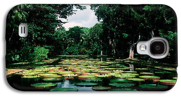 Garden Scene Galaxy S4 Cases - Lily Pads Floating On Water Galaxy S4 Case by Panoramic Images