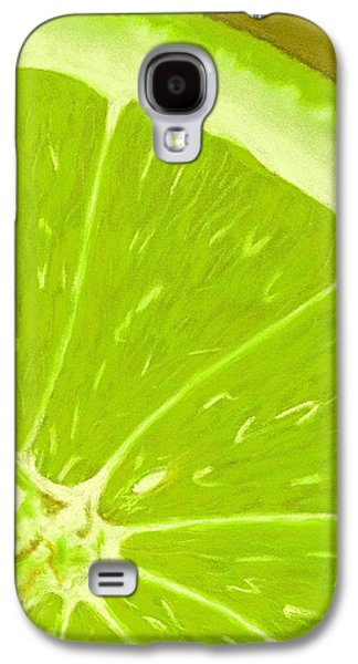 Orange Pastels Galaxy S4 Cases - Lime Galaxy S4 Case by Anastasiya Malakhova